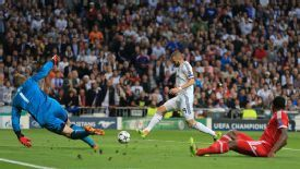 Karim Benzema's first leg goal has given Real Madrid the advantage ahead of the showdown in Munich.