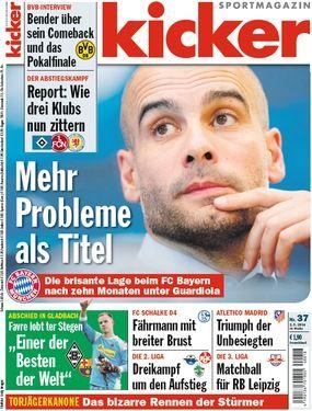 German magazine kicker has been highly critical of Guardiola's tenure at Bayern.