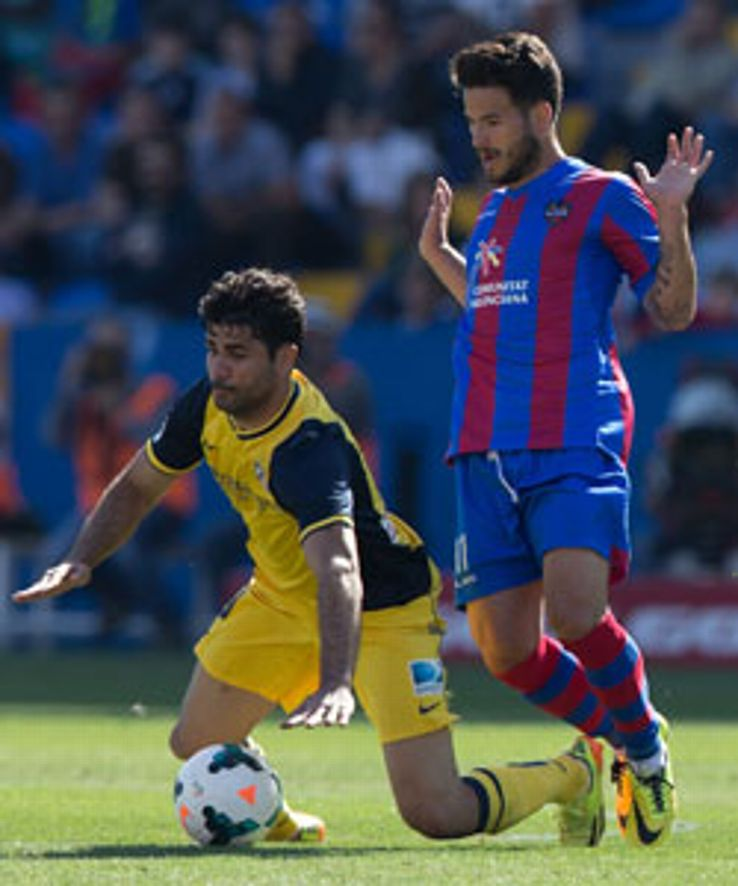 Ruben Garcia helped Levante to a surprise win against Atletico.