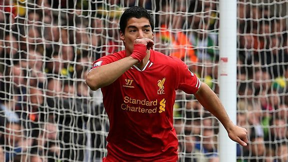 Luis Suarez has been a key figure in Liverpool's title charge this season.