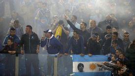 Napoli fans protest ahead of the Coppa Italia final.