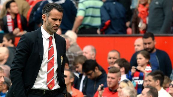Ryan Giggs suffered his first defeat as interim Manchester United manager on Saturday.