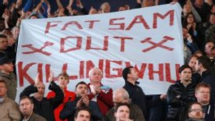 A section of West Ham supporters want Sam Allardyce to be removed as manager.