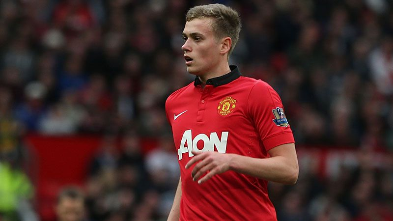James Wilson on his Man United debut.