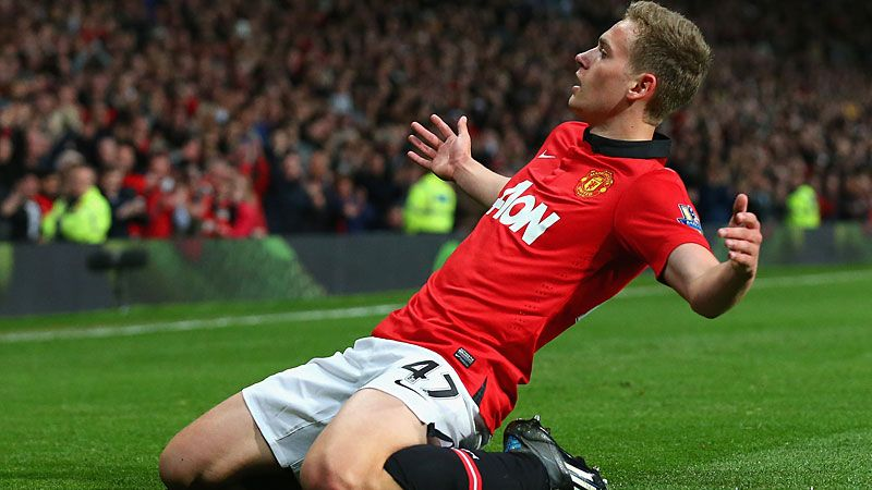 James Wilson scored twice on his Man United debut against Hull.