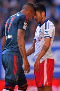 Jerome Boateng clashes with Kerem Demirbay.