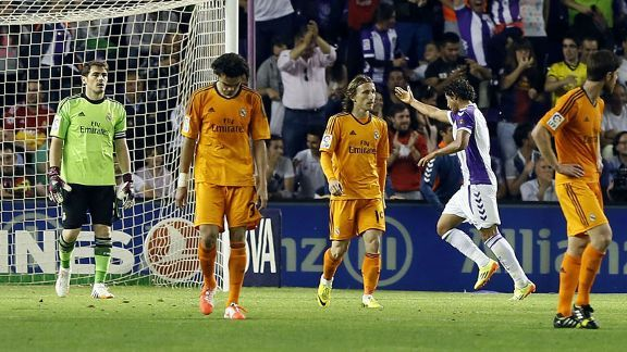 Real Madrid slipped up again as they drew.