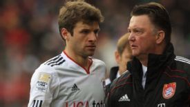 Thomas Mueller became a first-team regular under Louis van Gaal at Bayern Munich.