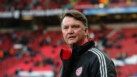 Louis van Gaal, pictured here at Old Trafford with Bayern Munich in 2010, could be confirmed as Man Utd's new manager next week.