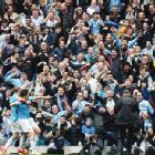 City fans knew the title was close after Samir Nasri gave them the lead aganst West Ham.