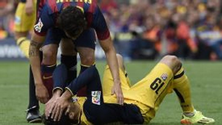 Diego Costa injured and Cesc Fabregas Barcelona vs Atletico Madrid