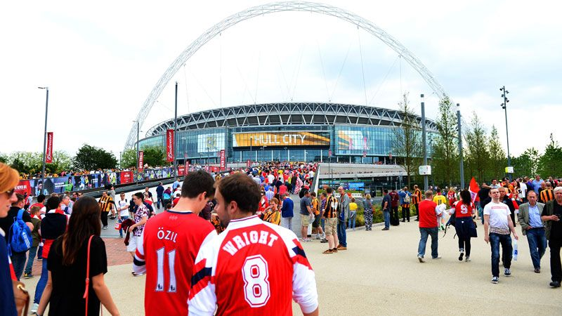 FA Cup final Arsenal fans Wembley