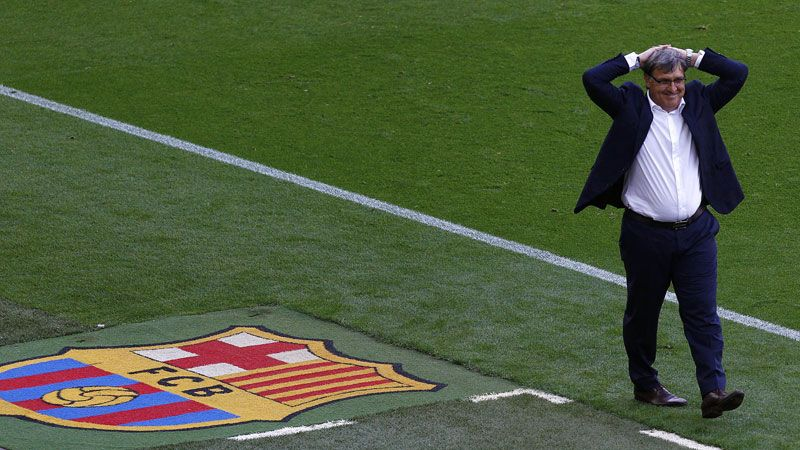 Tata Martino is unlikely to still be in the Barcelona dugout next season.