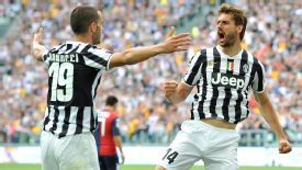 Fernando Llorente celebrates getting on the scoresheet in the season finale.