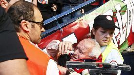 Osasuna fan injured in barrier collapse