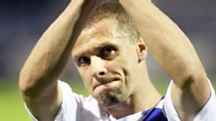 Serhiy Rebrov in his days as a Dynamo Kiev player