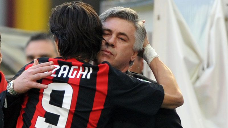 Filippo Inzaghi Carlo Ancelotti 20140527
