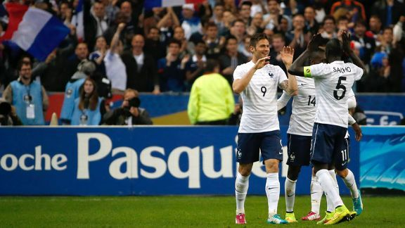 Olivier Giroud struck twice as France eased to a 4-0 win over Norway.