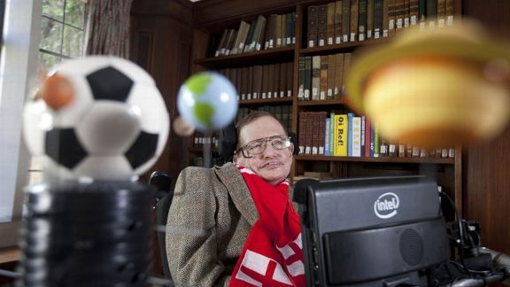 Professor Stephen Hawking unveils his new scientific formula to predict the chances of England succeeding in the World Cup.