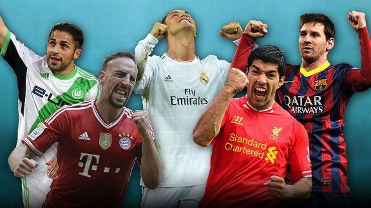 The five nominees for ESPN FC Player of the Season are Ricardo Rodriguez, Franck Ribery, Cristiano Ronaldo, Luis Suarez and Lionel Messi.