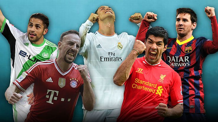 The five nominees for ESPN FC Player of the Season are Ricardo Rodriguez, Franck Ribery, Cristiano Ronaldo, Luis Suarez and Lionel Messi.