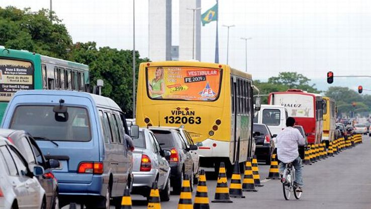 Don't be surprised to see high levels of traffic in Brasilia.