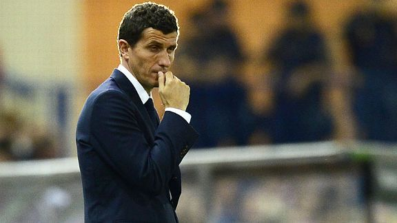 Javi Gracia with Osasuna last season.