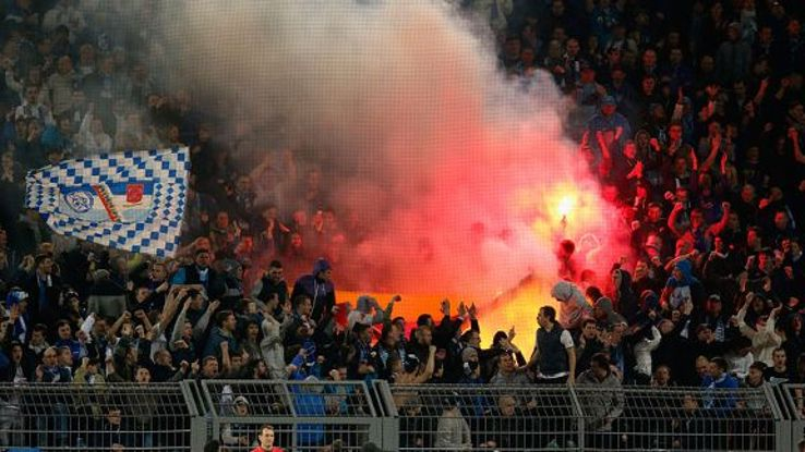 UEFA have fined Zenit St. Petersburg after their fans burned a German flag during a Champions League game against Borussia Dortmund.