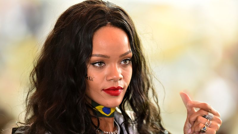 Rihanna showed her interest in football when she attended the World Cup.