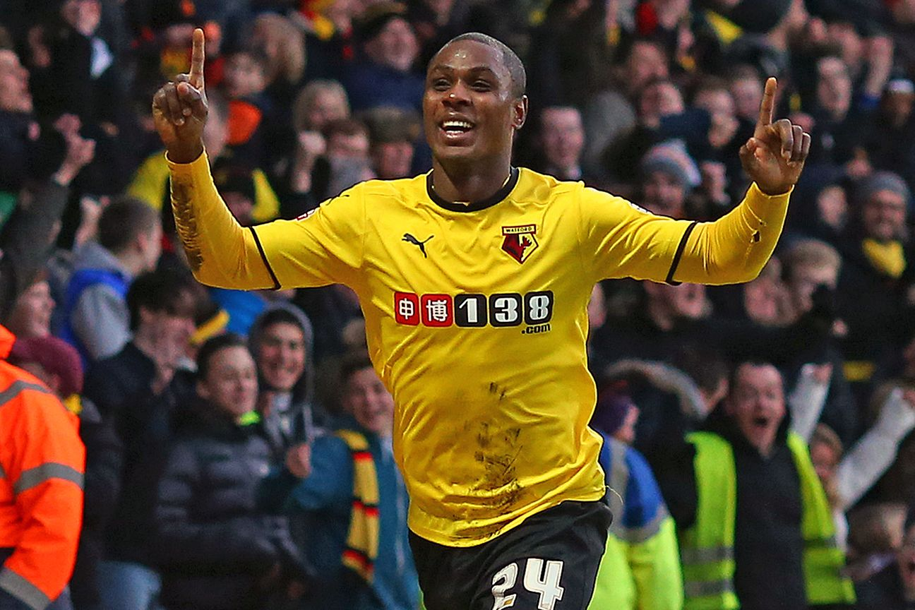Odion Ighalo celebrates.