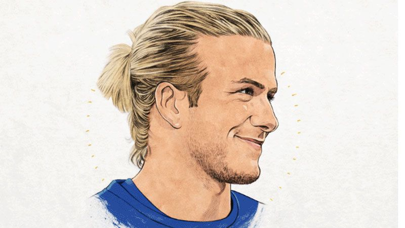 David beckham hairstyles through the years