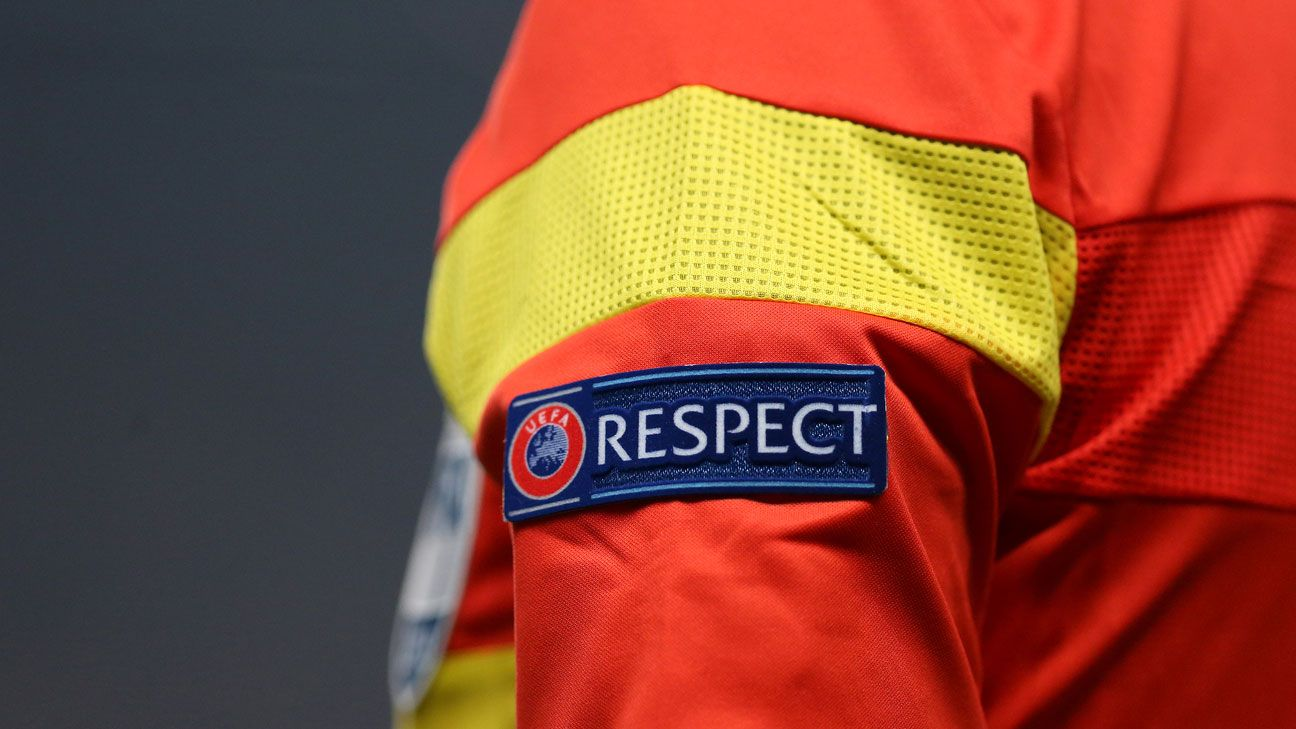 Generic UEFA respect badge referee
