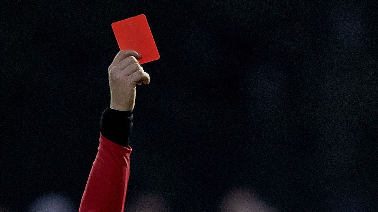 Red card referee generic sending off