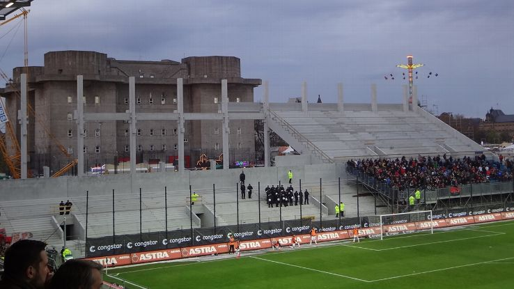 The current view of St. Pauli's North Stand.
