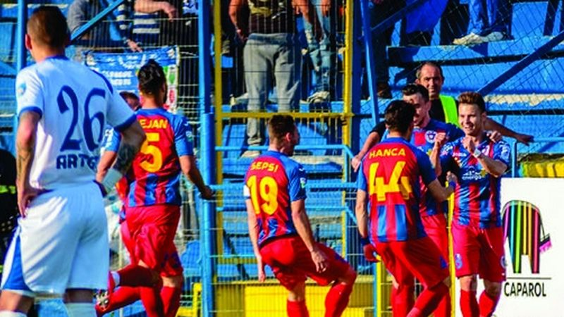 In just their first season back in Romania's stop-flight, Targu Mures are closing in their first ever title.