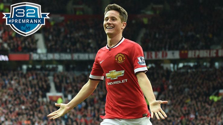 Ander Herrera Premier League rank