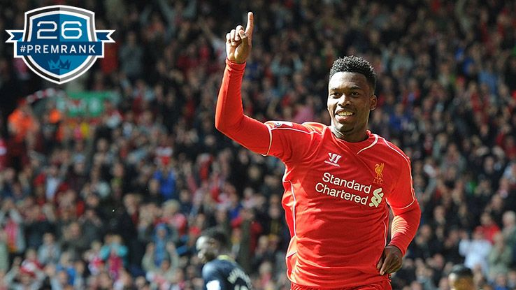 Daniel Sturridge Premier League rank