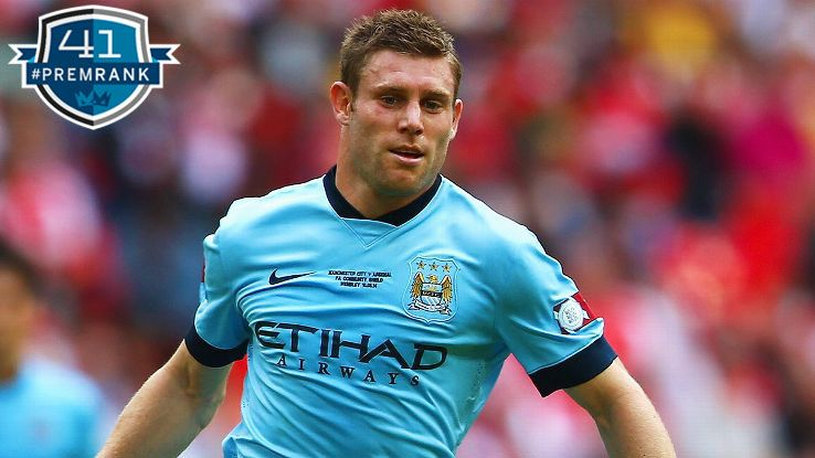 James Milner Premier League rank