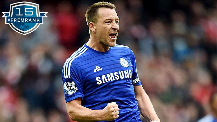 John Terry Premier League rank