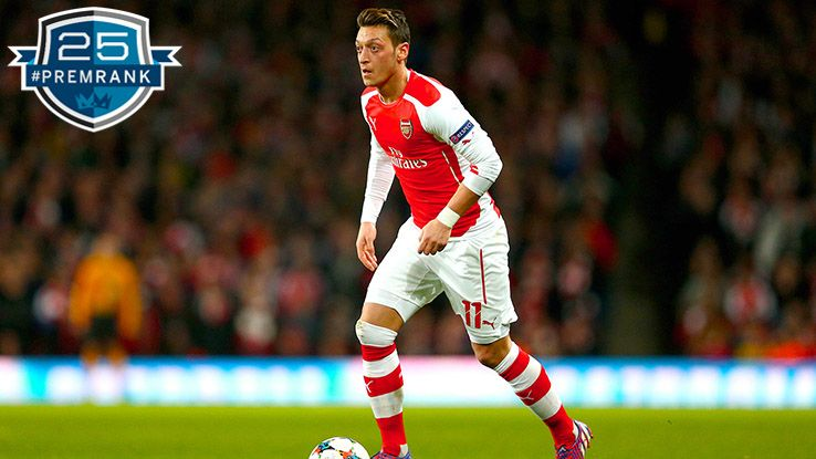 Mesut Ozil Premier League rank