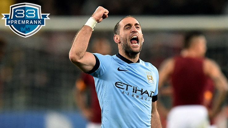 Pablo Zabaleta Premier League rank