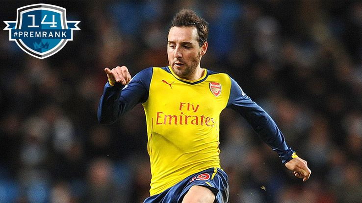 Santi Cazorla Premier League rank
