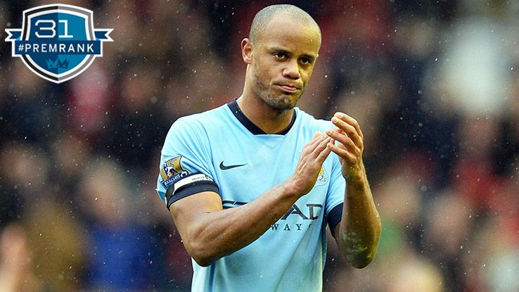 Vincent Kompany Premier League rank