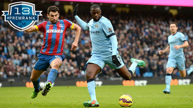 Yaya Toure Premier League rank