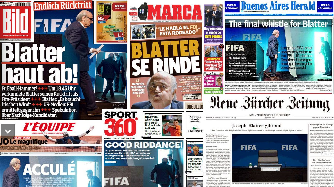 Newspapers Blatter reaction