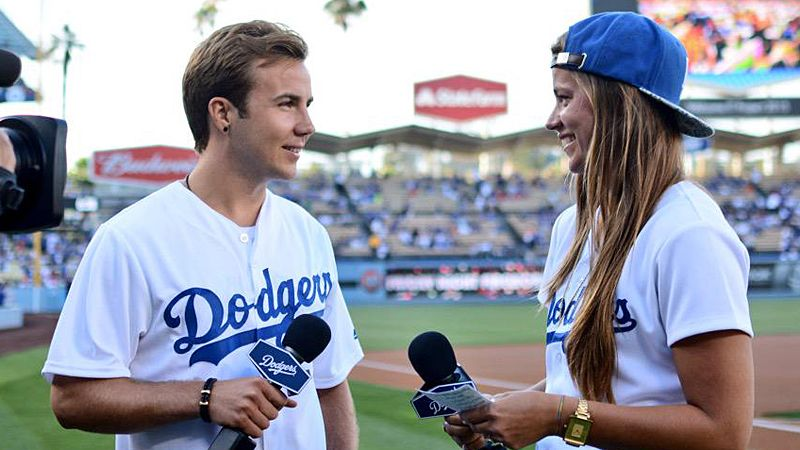 Mario Gotze at LA Dodgers