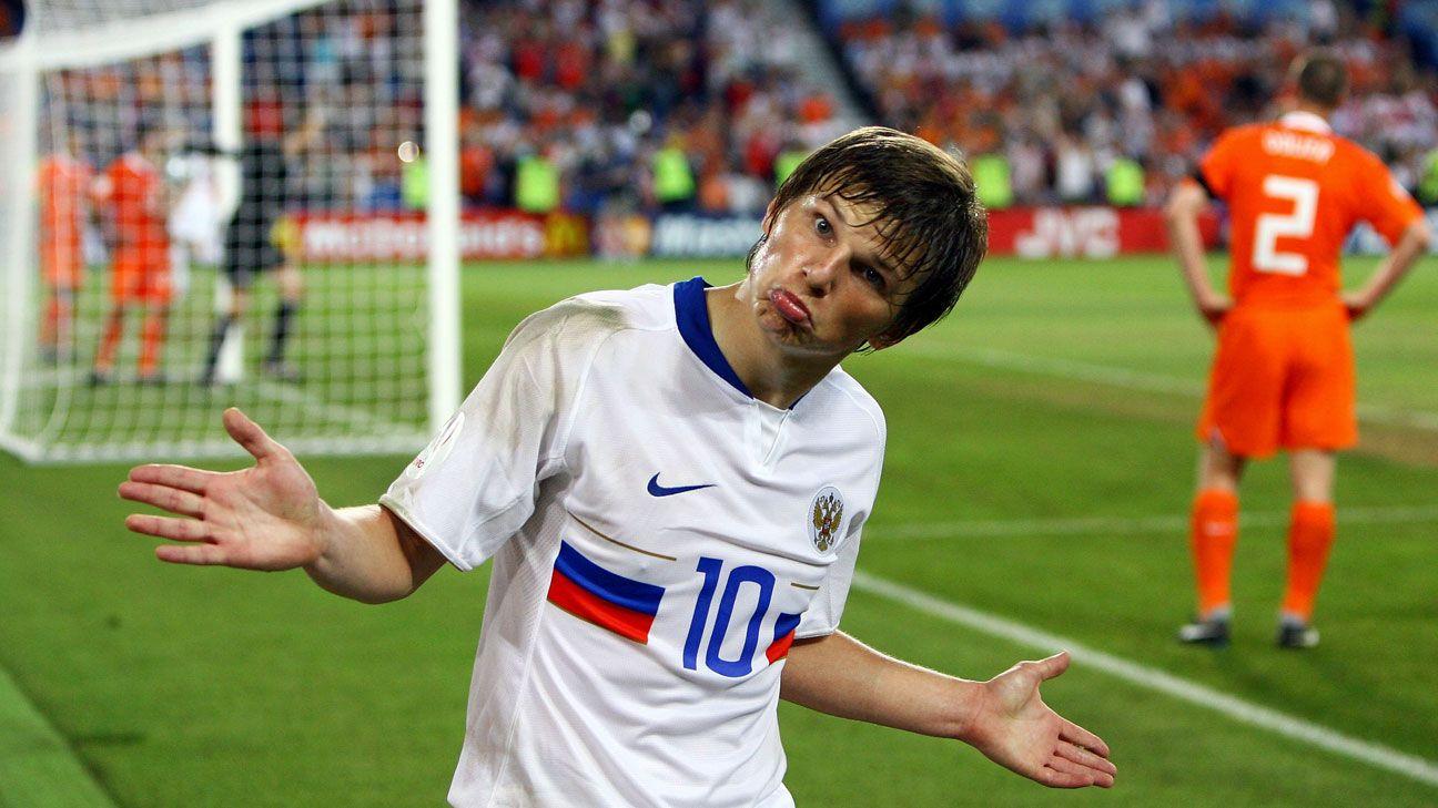 Andrey Arshavin camera Euro 2008 Russia v Netherlands