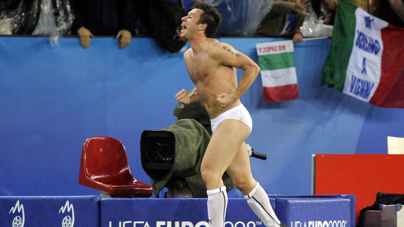 Antonio Cassano Italy France underwear pants Euro 2008