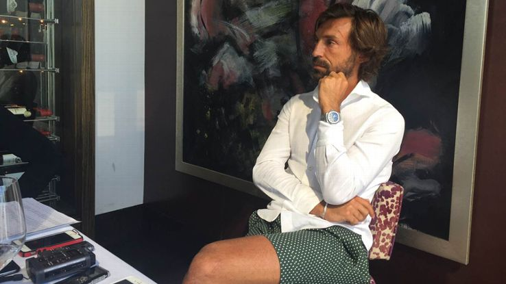 Andrea Pirlo spoke to the assembled media ahead of his debut for NYCFC.