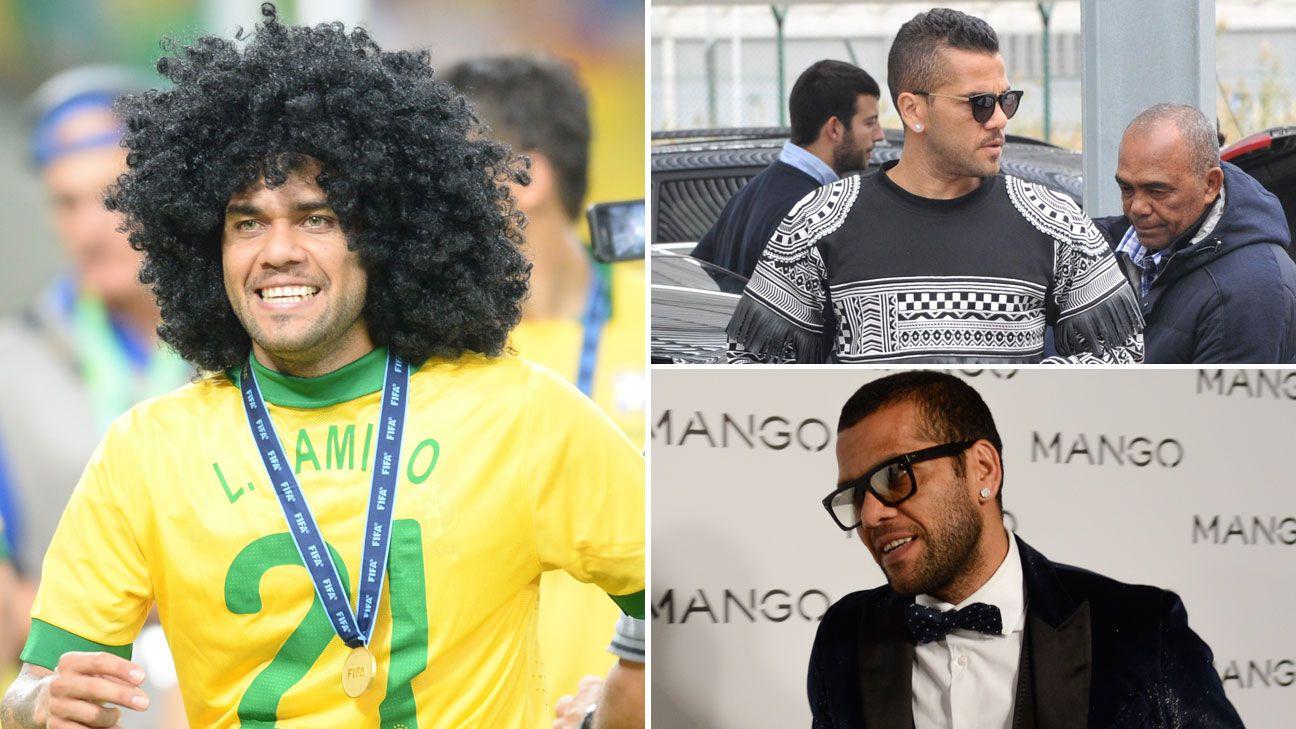 Dani Alves wig Brazil Barcelona